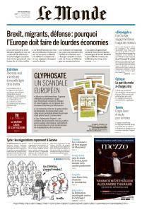 Le Monde du Mardi 28 Novembre 2017