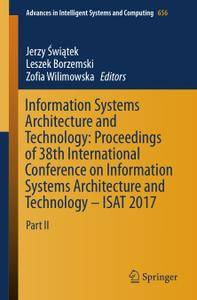 Information Systems Architecture and Technology: Proceedings of 38th International Conference on Information Systems Architectu
