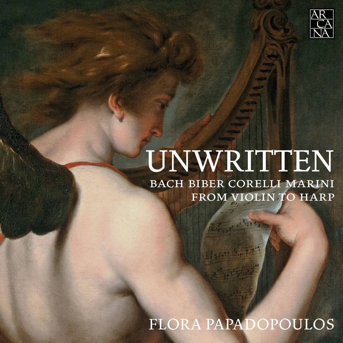 Flora Papadopoulos - Unwritten: From Violin to Harp (2018) [Official Digital Download 24/96]