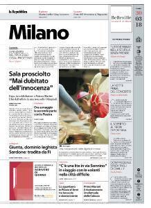 la Repubblica Milano - 30 Marzo 2018