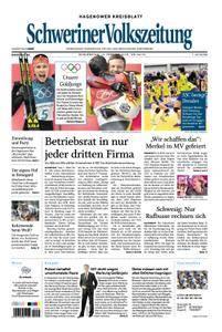 Schweriner Volkszeitung Hagenower Kreisblatt - 15. Februar 2018