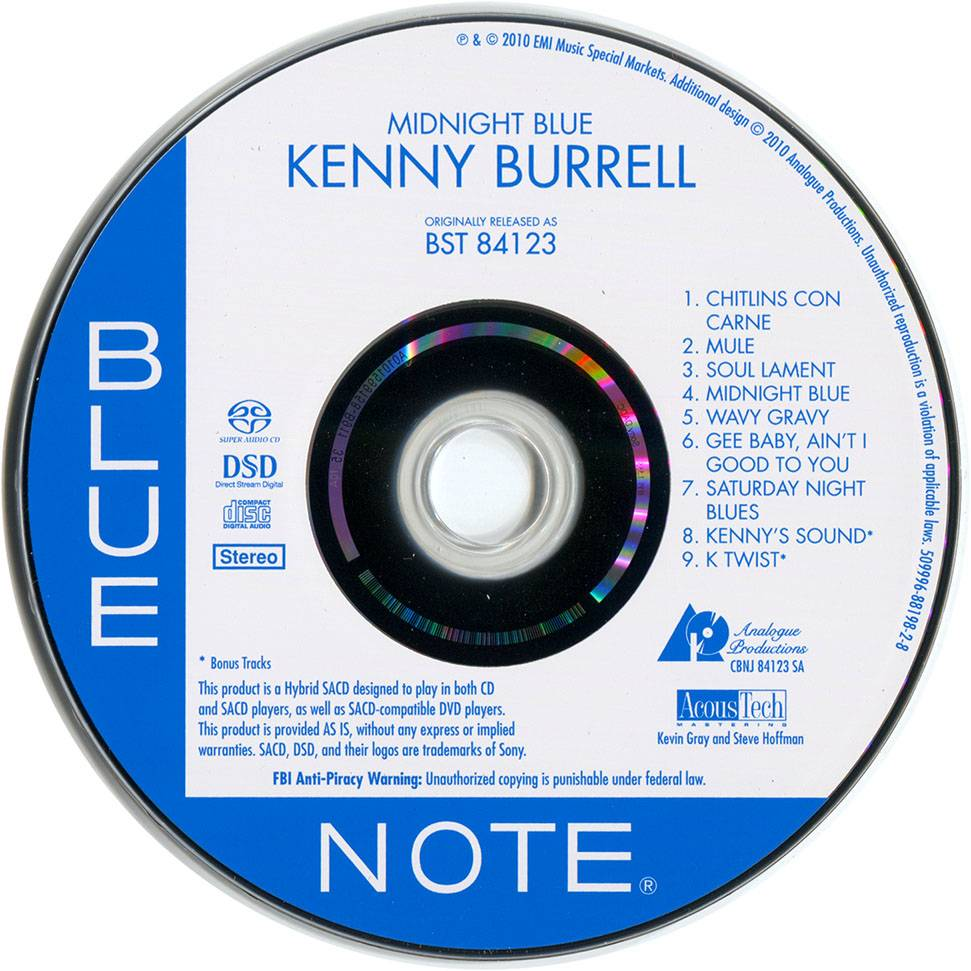 Kenny Burrell - Midnight Blue (1963) [Analogue Productions, Remastered 2010] Audio CD Layer