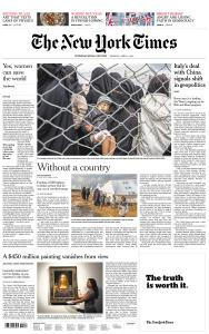 International New York Times - 1 April 2019