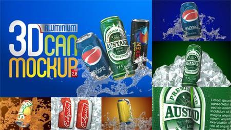 Videohive 3D Aluminium Pop Top Soda Drink Can 2.0 4032031