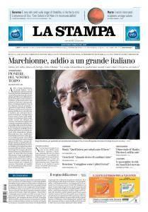 La Stampa Torino Provincia e Canavese - 26 Luglio 2018