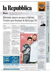 la Repubblica - 30 Agosto 2018