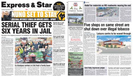Express and Star City Edition – December 03, 2019