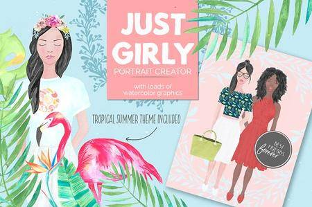 Just Girly Custom Portrait Creator 1291661