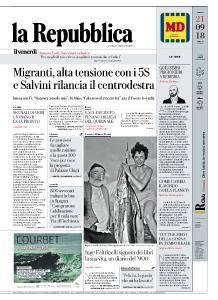 la Repubblica - 21 Settembre 2018