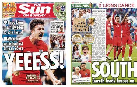 The Sun UK – 08 July 2018