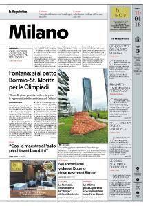 la Repubblica Milano - 10 Aprile 2018