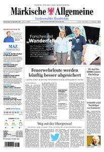 Märkische Allgemeine Luckenwalder Rundschau - 28. September 2017