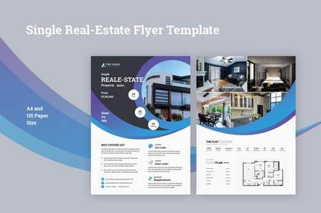 Single Real-Estate Flyer Template