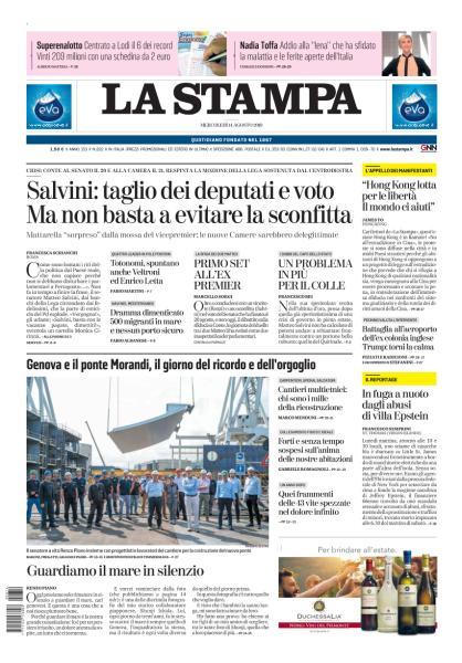 La Stampa Milano - 14 Agosto 2019