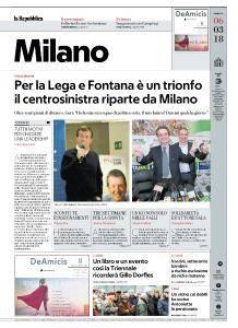 la Repubblica Milano - 6 Marzo 2018
