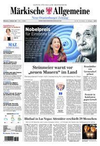 Neue Oranienburger Zeitung - 04. Oktober 2017