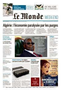 Le Monde du Samedi 7 Septembre 2019