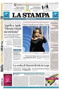 La Stampa Torino Provincia e Canavese - 9 Gennaio 2018