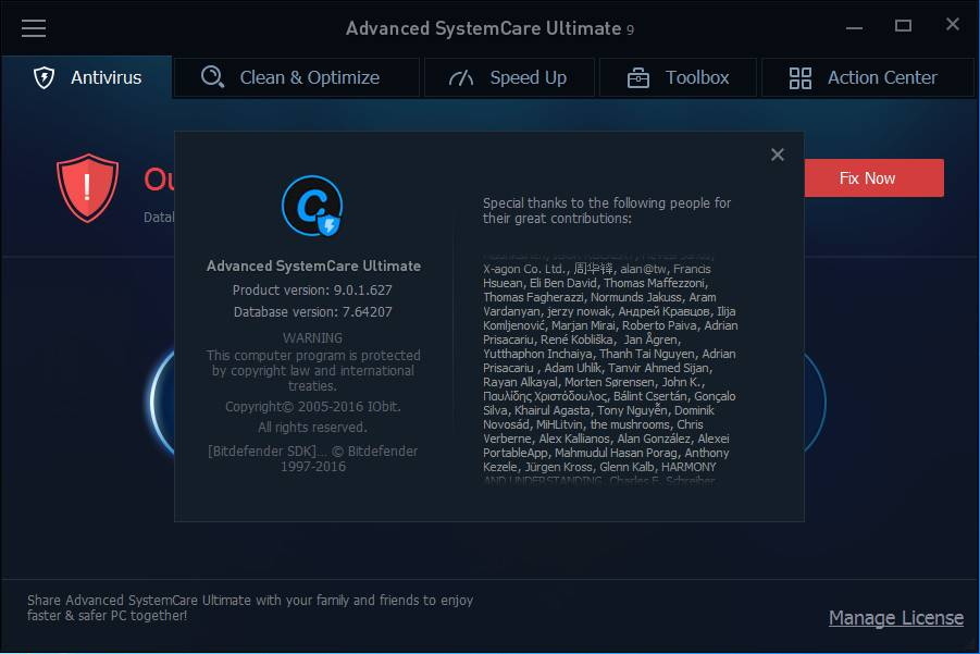 Advanced SystemCare Ultimate 9.0.1.627 DC 01.02.2016 Multilingual