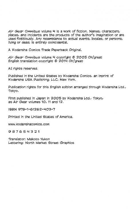 Kodansha-Air Gear Omnibus 4 2021 Hybrid Comic eBook