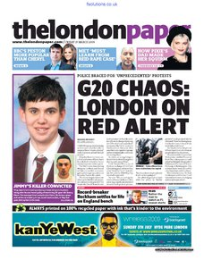 The London Paper 27 March 2009