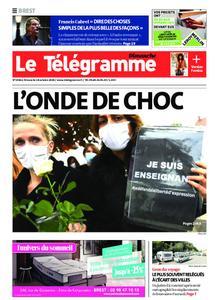 Le Télégramme Brest Abers Iroise – 18 octobre 2020