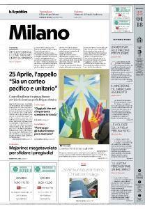 la Repubblica Milano - 25 Aprile 2018