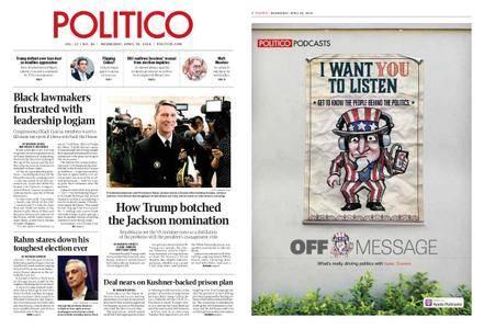 Politico – April 25, 2018