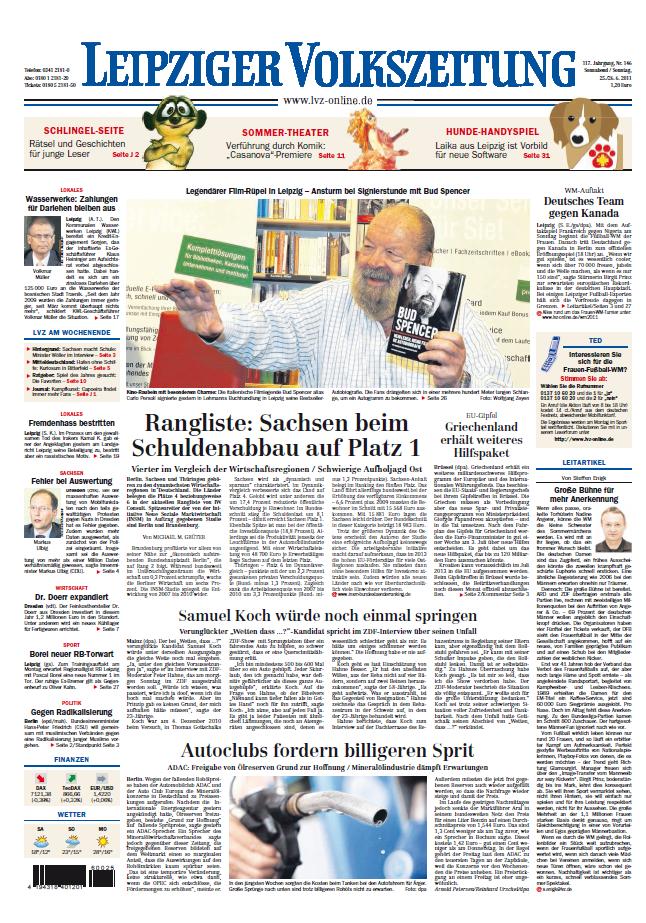 Leipziger Volkszeitung 25 - 26 06 2011