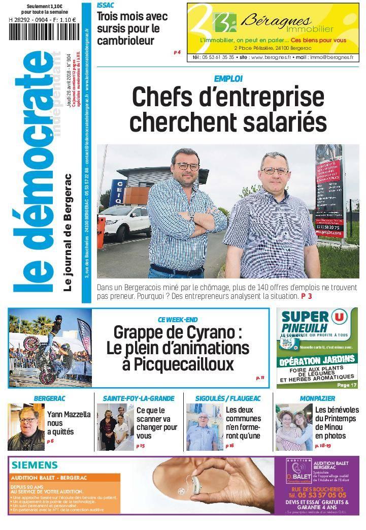 Le Démocrate de Bergerac - 26 avril 2018