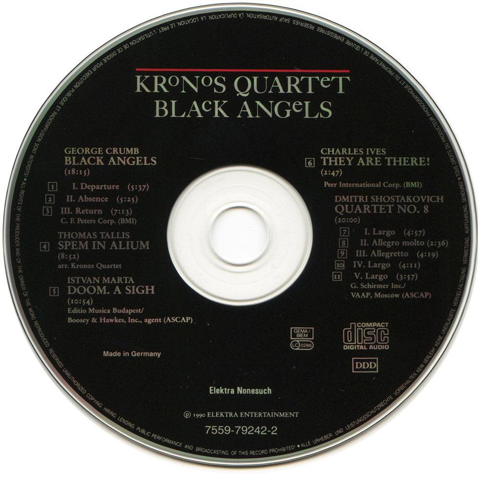 Kronos Quartet - Black Angels (1990)