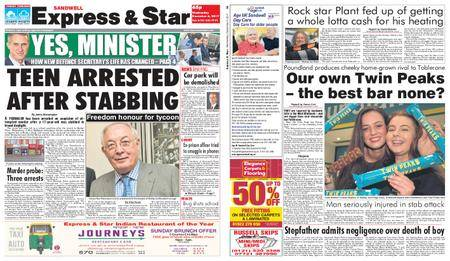 Express and Star Sandwell Edition – December 06, 2017