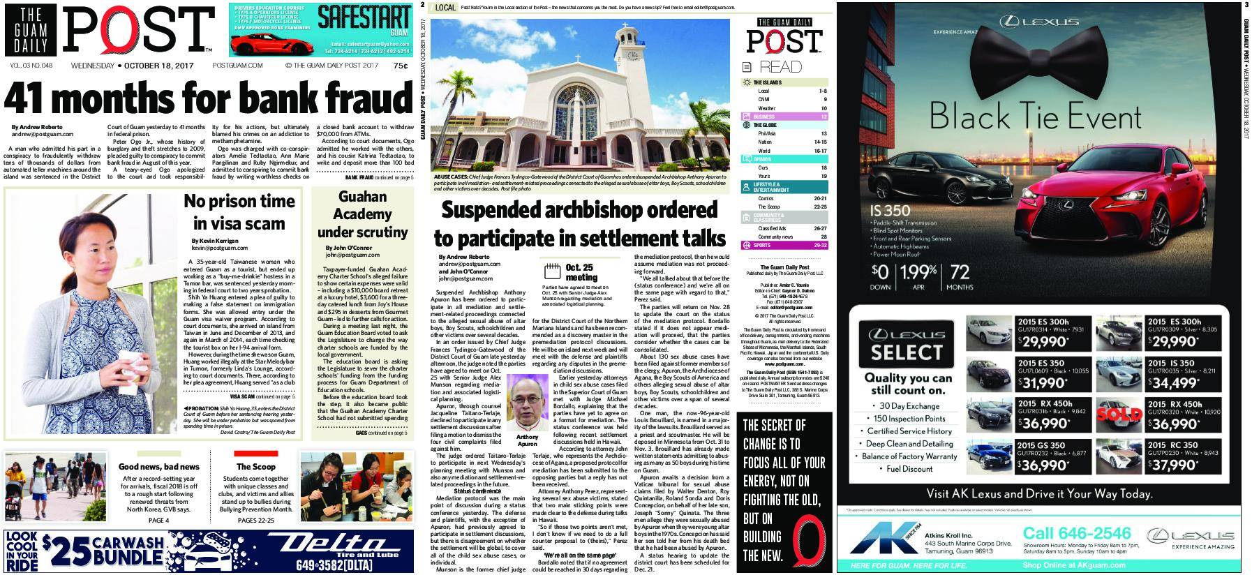 The Guam Daily Post – October 18, 2017