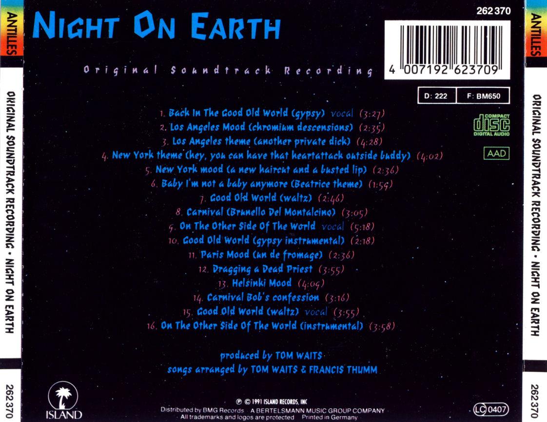 Tom Waits – Night On Earth (OST) (1991) (Repost)