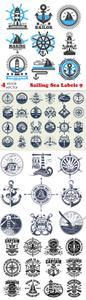 Vectors - Sailing Sea Labels 9