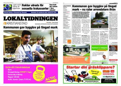 Lokaltidningen Kristianstad – 23 mars 2019