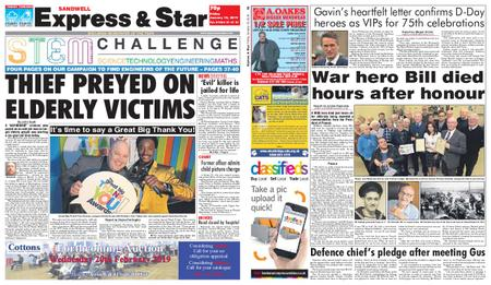 Express and Star Sandwell Edition – January 18, 2019