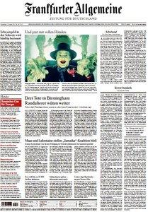 Frankfurter Allgemeine Zeitung vom 11 August 2011