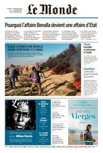 Le Monde du Dimanche 22 et Lundi 23 Juillet 2018