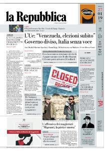 la Repubblica - 27 Gennaio 2019