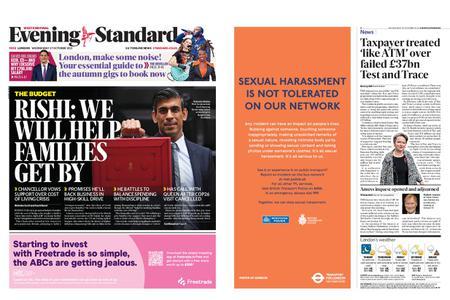 London Evening Standard – October 27, 2021