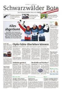 Schwarzwälder Bote St. Georgen, Triberg, Furtwangen - 21. Februar 2018