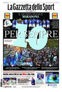 La Gazzetta dello Sport Bergamo – 27 novembre 2020