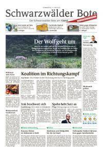 Schwarzwälder Bote St. Georgen, Triberg, Furtwangen - 14. Juni 2018