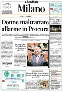 la Repubblica Milano - 29 Agosto 2019