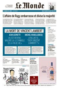 Le Monde du Vendredi 12 Juillet 2019