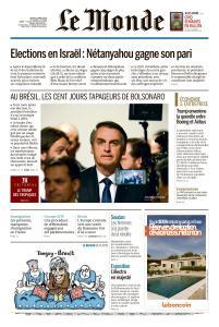 Le Monde du Jeudi 11 Avril 2019