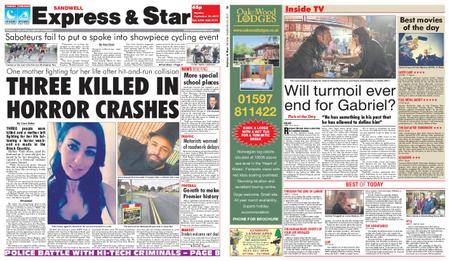 Express and Star Sandwell Edition – September 25, 2017