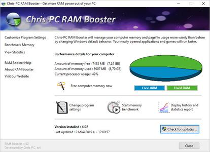 Chris-PC RAM Booster 4.92