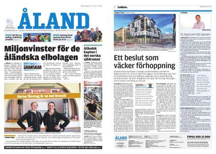 Ålandstidningen – 25 mars 2019